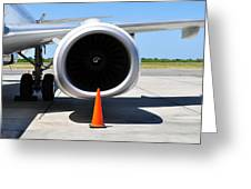 Air Transportation. Jet Engine Detail. Greeting Card by Fernando Barozza