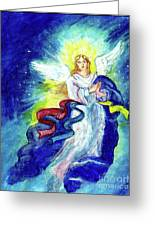 Angel Of Joy Greeting Card by Doris Blessington