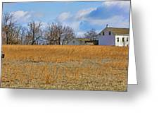 Artist In Field Greeting Card by William Jobes