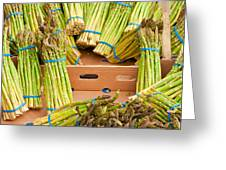 Asparagus Greeting Card by Tom Gowanlock