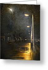 at Night Greeting Card by Svetlana Sewell
