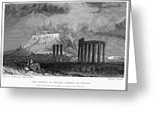 Athens: Olympian Zeus Greeting Card by Granger