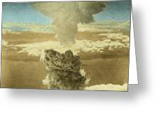 Atomic Bombing Of Nagasaki Greeting Card by Omikron
