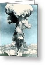 Atomic Bombing Of Nagasaki Greeting Card by Science Source