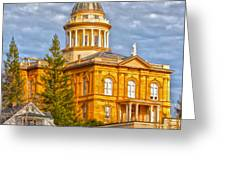 Auburn Courthouse Greeting Card by Cheryl Young