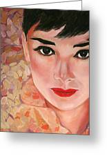 Audrey Greeting Card by Wendi Strauch Mahoney