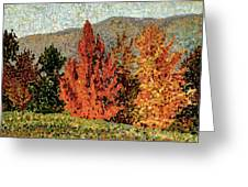 Autumn Landscape Greeting Card by Henri-Edmond Cross