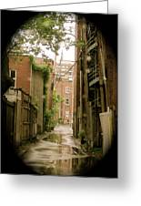 Back Lanes Greeting Card by Michael Litvack