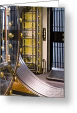 Bank Vault Doors Greeting Card by Adam Crowley