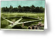 Baseball In 1846 Greeting Card by Omikron