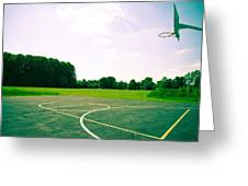 Basketball Court Greeting Card by Tom Gowanlock