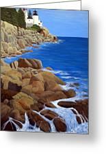 Bass Harbor Head Lighthouse Greeting Card by Frederic Kohli