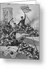 Battle Of Chapultepec, 1847 Greeting Card by Granger