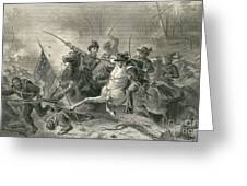Battle Of Shiloh, Charge Of General Greeting Card by Photo Researchers