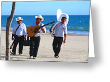 Beach Music By Michael Fitzpatrick Greeting Card by Olden Mexico