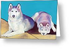 Best Buddies Greeting Card by Pat Saunders-White
