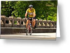 Bike Ride Across Georgia Greeting Card by Susan Leggett