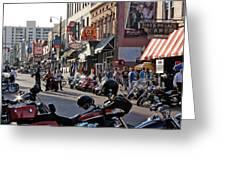 Bikes On Beale Greeting Card by Dawn Davis