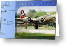 Boeing B-17-g Greeting Card by Arne Hansen