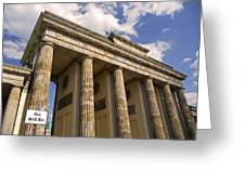 Brandenburg Gate - Berlin Greeting Card by Juergen Weiss