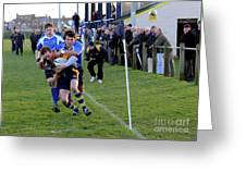 Bridlington Rufc V North Ribblesdale Rufc Greeting Card by David  Hollingworth