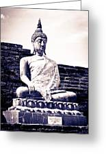 Buddha Statue Greeting Card by Thosaporn Wintachai