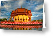 Buddha Temple Greeting Card by Adrian Evans