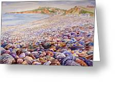 Budleigh Salterton Beach Greeting Card by Merv Scoble
