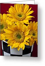 Bunch Of Sunflowers Greeting Card by Garry Gay