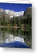 Cabins, Sargents Point, Lake Ohara Greeting Card by John Sylvester
