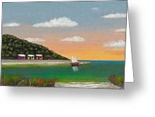 Canary Cove Greeting Card by Gordon Beck