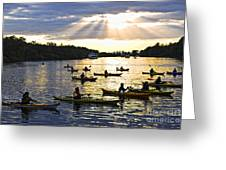 Canoeing Greeting Card by Elena Elisseeva
