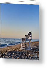 Cape Cod Lifeguard Stand Greeting Card by John Greim