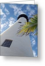 Cape Florida Lighthouse Greeting Card by Tammy Chesney