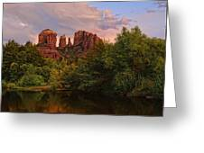 Cathedral Rock Sunset Greeting Card by Jeffrey Campbell