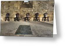 Chairs Greeting Card by Joana Kruse