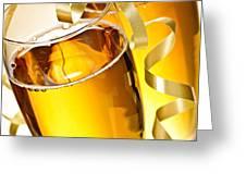 Champagne glasses Greeting Card by Elena Elisseeva