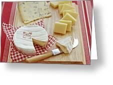 Cheese Selection Greeting Card by David Munns