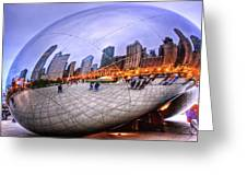 Chicago Bean Greeting Card by Mark Currier