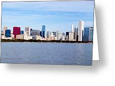 Chicago Panorama Greeting Card by Paul Velgos