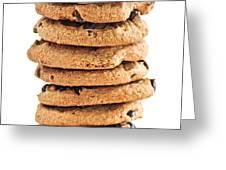 Chocolate chip cookies Greeting Card by Elena Elisseeva