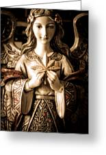 Christmas Angel Greeting Card by Julie Palencia