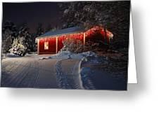 Christmas House Greeting Card by Roman Rodionov