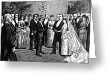 Cleveland Wedding, 1886 Greeting Card by Granger