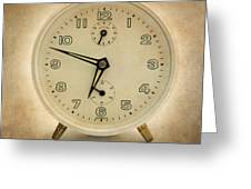 Clock Greeting Card by Bernard Jaubert