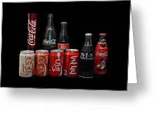 Coke From Around The World Greeting Card by Rob Hans