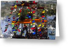 Colors Of Gasparilla Greeting Card by David Lee Thompson