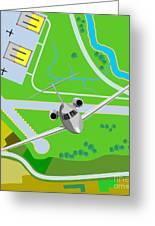 Commercial Jet Plane Greeting Card by Aloysius Patrimonio