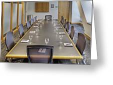 Conference Table And Chairs Greeting Card by Andersen Ross