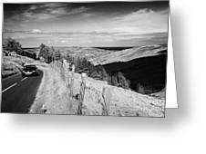 Country Mountain Road Through Glenaan Scenic Route Glenaan County Antrim Northern Ireland  Greeting Card by Joe Fox
